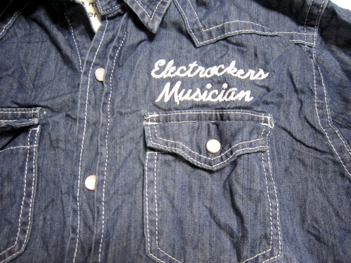 オリジナル刺繍 刺繍加工 チェーンステッチ ステッチ ワークシャツ ワークウエア デニム