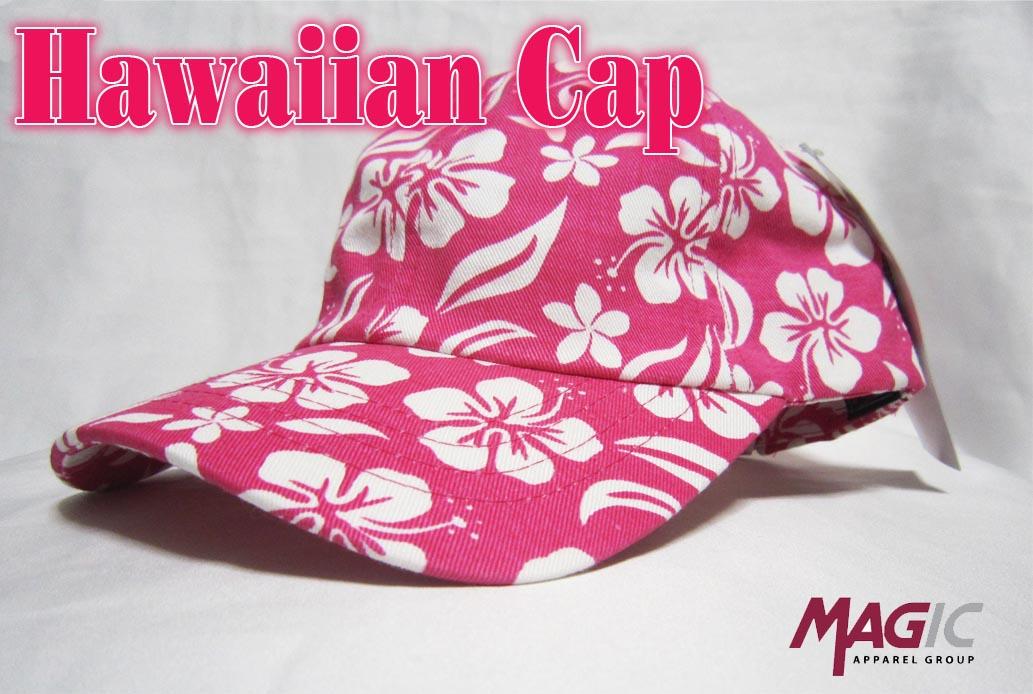 オリジナル刺繍 ハワイアン hawaiian アロハキャップ 夏 サマー 花柄 プレゼント