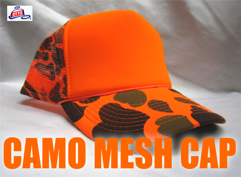 カモフラージュ 刺繍キャップ Camouflage meshcap メッシュキャップ オットー OTTO  迷彩 自衛隊 サバイバルゲーム 釣り フィッシング