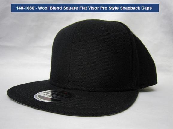 square-flat bill cap