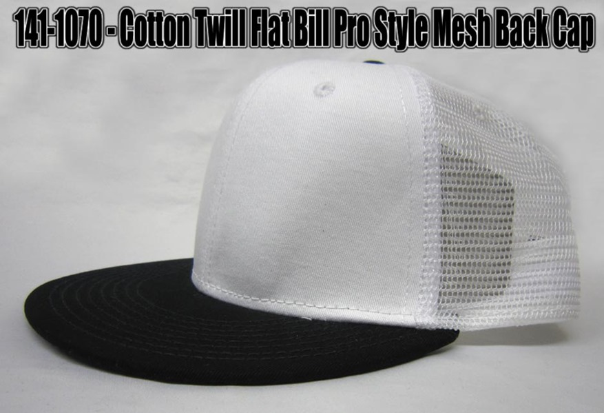 flat bill mesh back cap