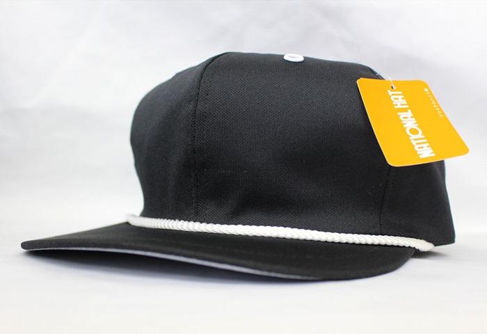 オリジナル刺繍 刺繍キャップ ナショナルハット national hat ポプリン poplin 紐付き ゴルフキャップ golf cap