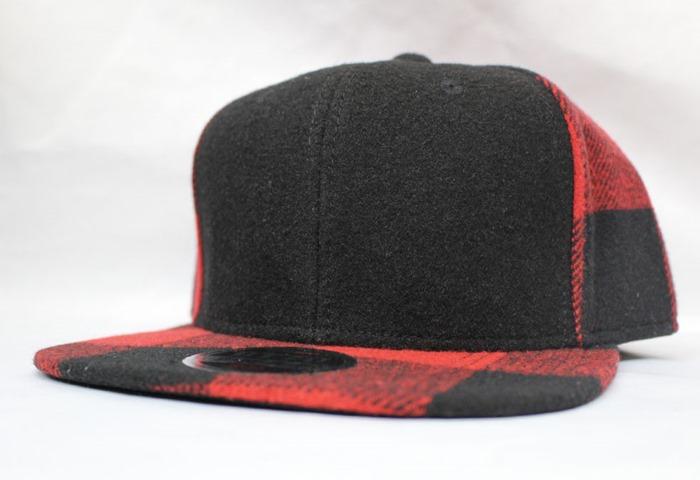 オリジナル刺繍 刺繍キャップ オットー OTTO フラットビル メルトン ウール melton wool flatbill newera ニューエラ ベースボールキャップ 野球帽 帽子 チェック 柄