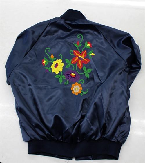 オリジナル刺繍 ジャケット jacket MA-1 ブルゾン ジャンバー スイングトップ 上着 トレーニングウエア サテンジャケット ナイロンジャケット サテンブルゾン サテンナイロン スカジャン ボンバージャケット