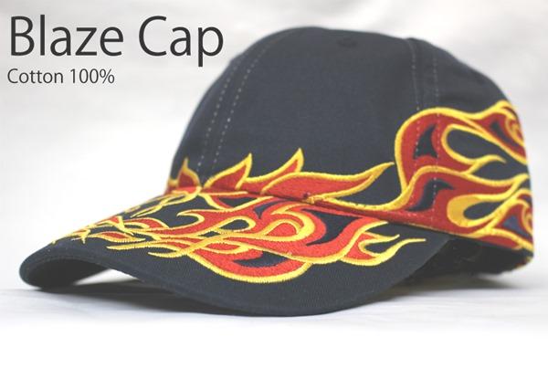 オリジナル刺繍 刺繍キャップ ファイヤーパターン 炎 firepattern デザインキャップ