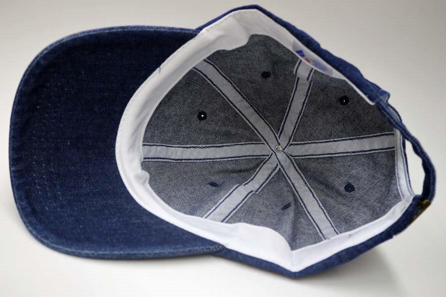オリジナル刺繍 刺繍キャップ デニム denim ダッドハット dadhat アンコン オリジナルデザイン 注文 オーダー