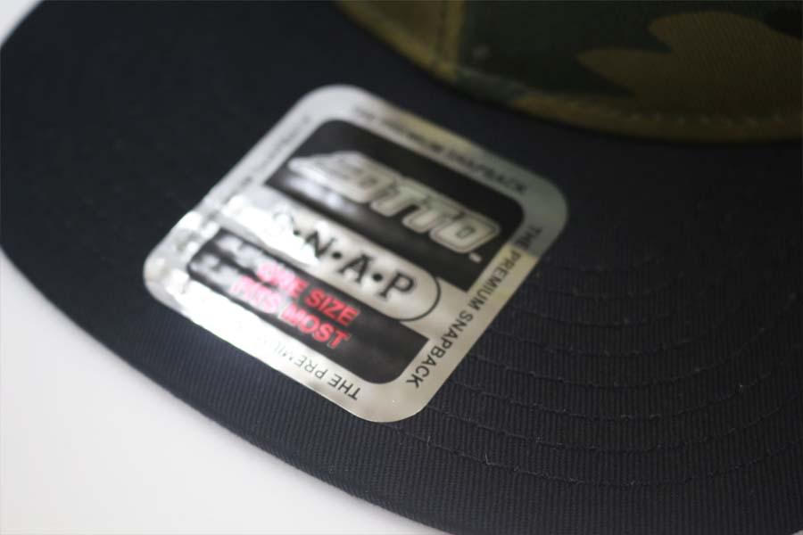 オリジナル刺繍 刺繍キャップ ナイロン フラットビル ツバ 平  オリジナルデザイン 注文 オーダー