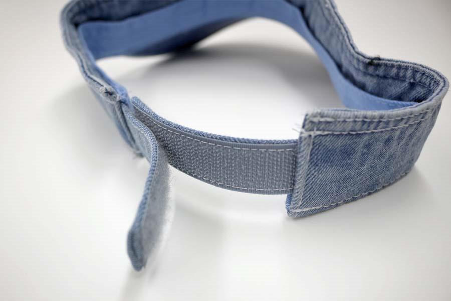 オリジナル刺繍 刺繍キャップ デニム サンバイザー sunvisor denim オーダー 注文 格安 輸入商品